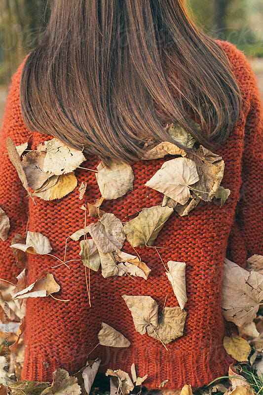 Girl with leafs on back by Dejan Ristovski for Stocksy United