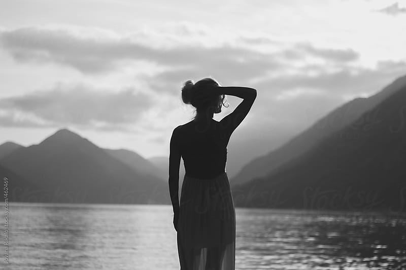 Back view of a woman at sunset by Jovana Rikalo for Stocksy United