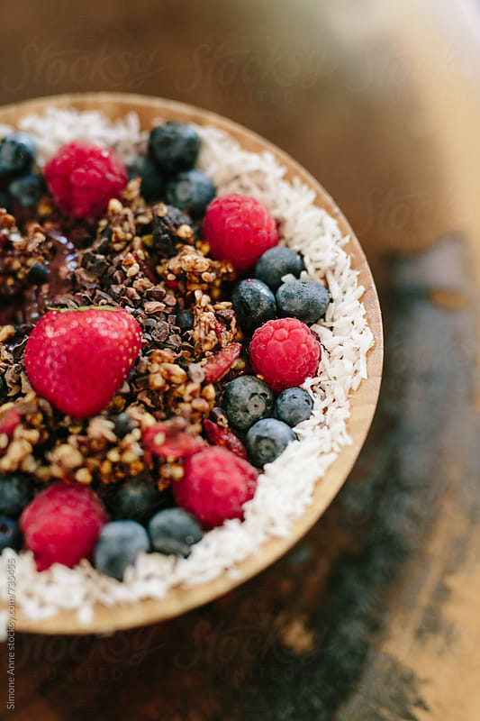 Acai bowl by Simone Anne for Stocksy United