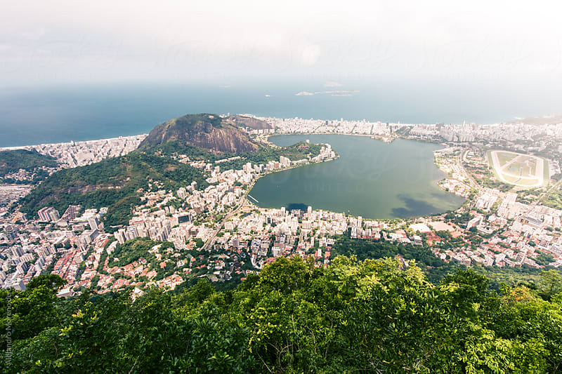 View of the city of Rio de Janeiro, Corcovado, Brazil by Alejandro Moreno de Carlos for Stocksy United