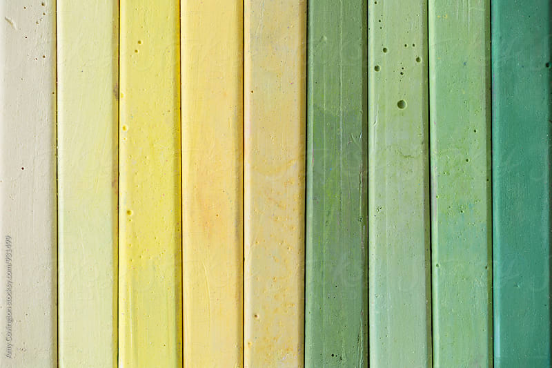 Chalk color range from yellow to green by Amy Covington for Stocksy United