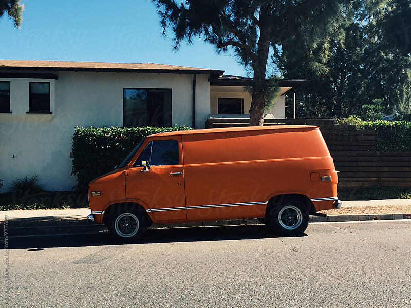 Orange Truck by Skyler Dahan for Stocksy United