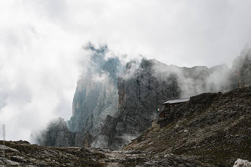 Dolomites cabin by Simone Becchetti for Stocksy United