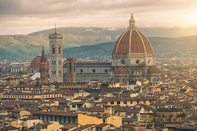 Duomo Santa Maria Del Fiore at sunset, Florence by GIC for Stocksy United