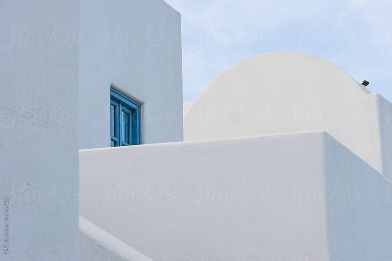 Traditional architecture in Santorini by Simone Becchetti for Stocksy United