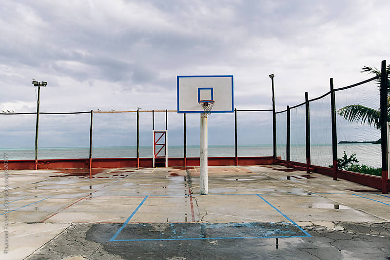 Empty Basketball Court Spanish Wells, Bahamas by Raymond Forbes LLC for Stocksy United