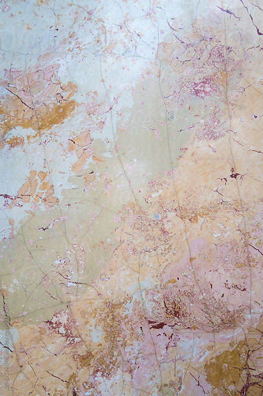 pastel marble wall detail background by Sonja Lekovic for Stocksy United