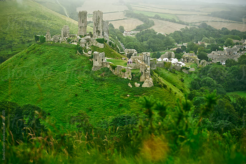 Roleplaying festival at the ruins of Corfe Castle by Sasha Evory for Stocksy United