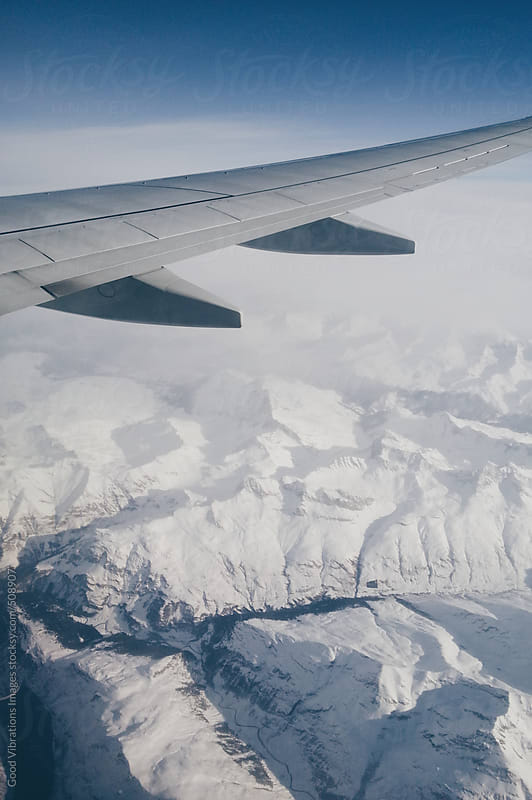 Flying over the Alps during Winter by Good Vibrations Images for Stocksy United