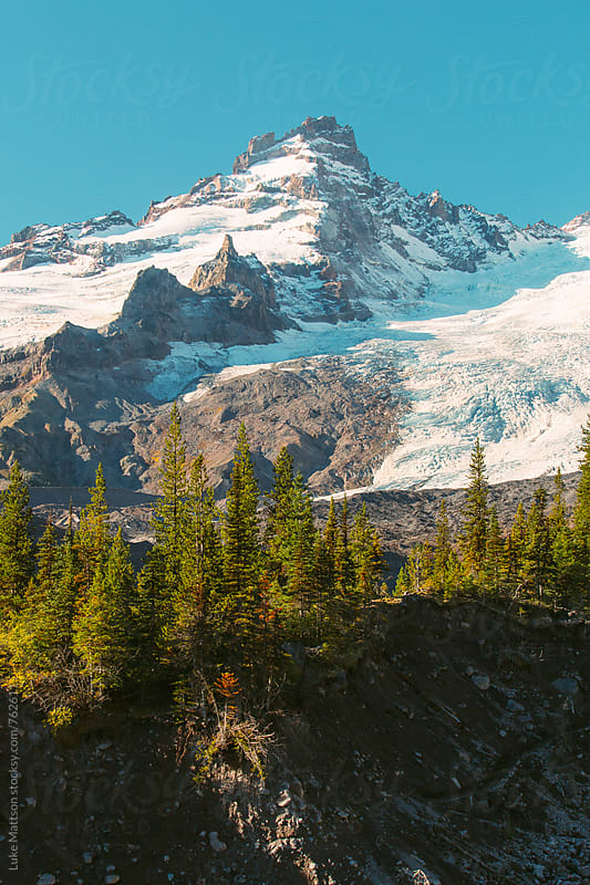 Little Tahoma Mountain Peak By Mount Rainier by Luke Mattson for Stocksy United
