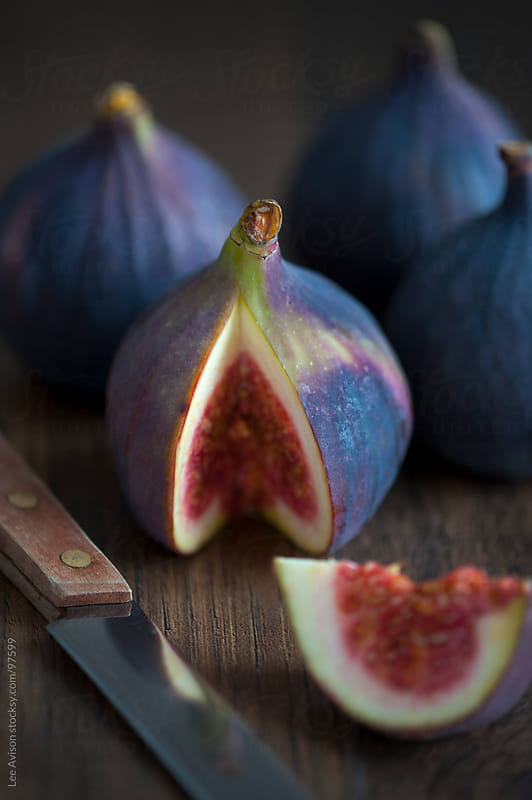 fresh figs close up by Lee Avison for Stocksy United