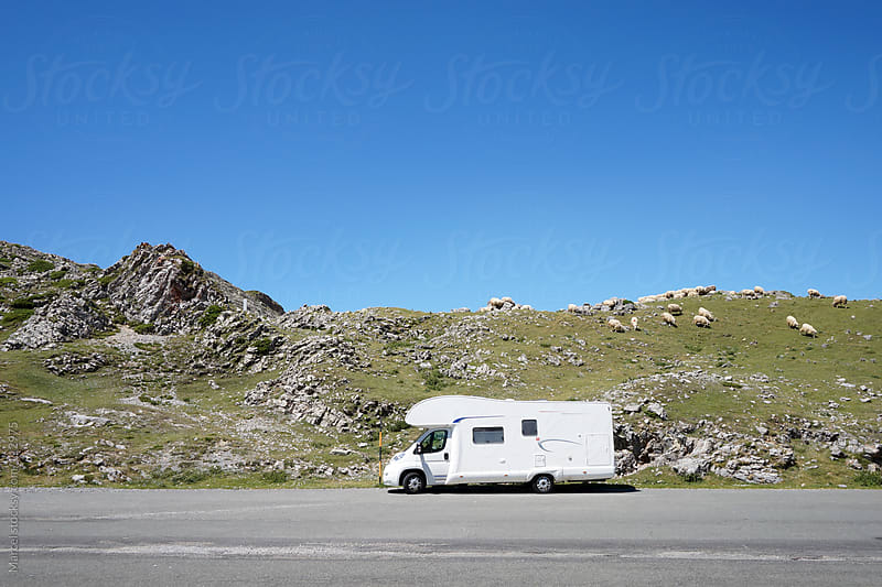 Parked camper in the mountains by Marcel for Stocksy United