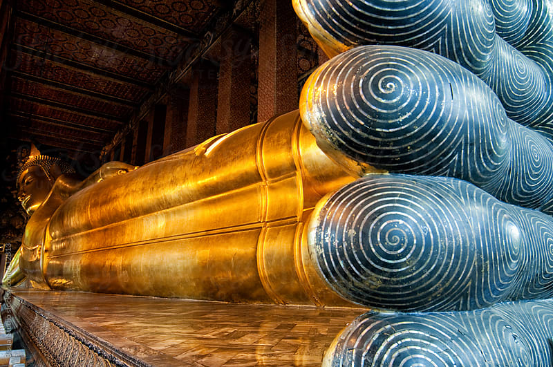 Reclining Buddha by Bisual Studio for Stocksy United