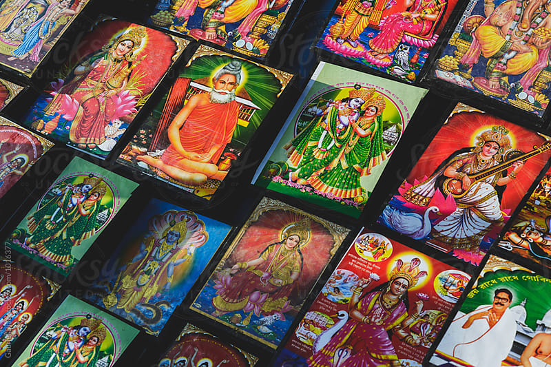 Souvenir pictures of Saints and Deities  for sale. by Gabriel Diaz for Stocksy United