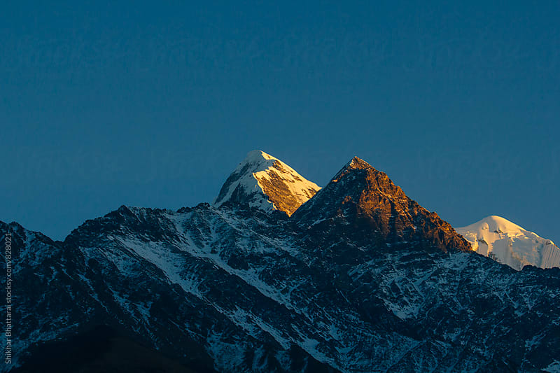 Mount Nilgiri(7061 m), as seen from Mustang, Nepal. by Shikhar Bhattarai for Stocksy United