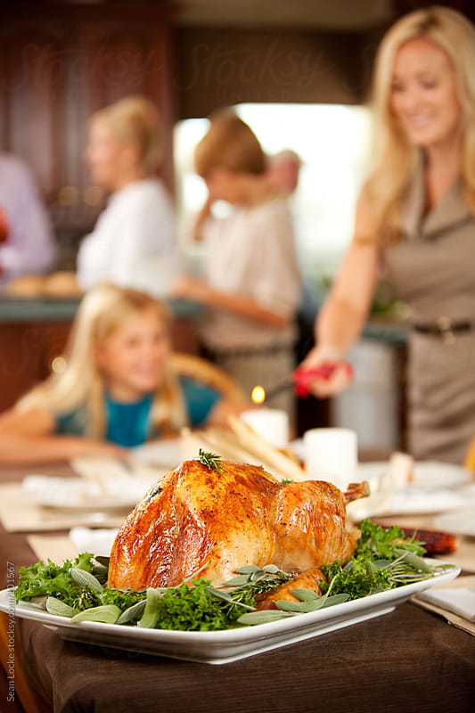 Thanksgiving: Turkey on the Table by Sean Locke for Stocksy United