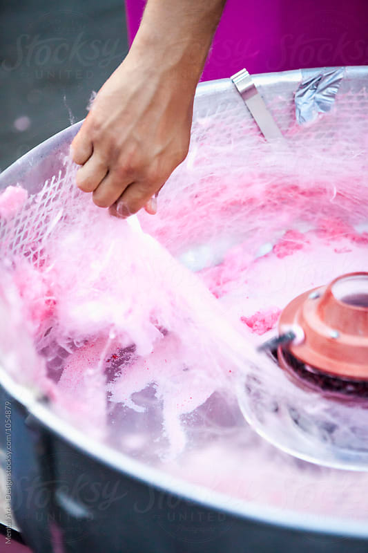 Making cotton candy by Mental Art + Design for Stocksy United