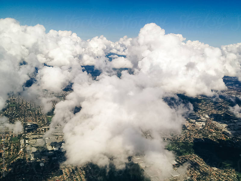View out the airplane window by Jen Grantham for Stocksy United