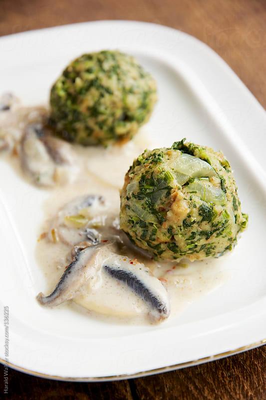 Spinach Knödel (Dumplings) by Harald Walker for Stocksy United