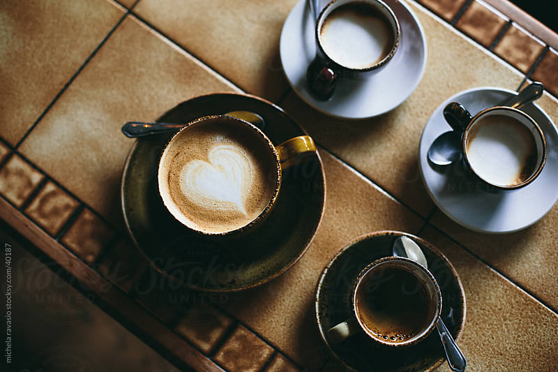 Coffee and cappuccino by michela ravasio for Stocksy United