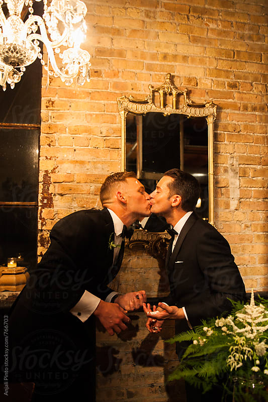 Two Grooms, Gay Wedding by Anjali Pinto for Stocksy United