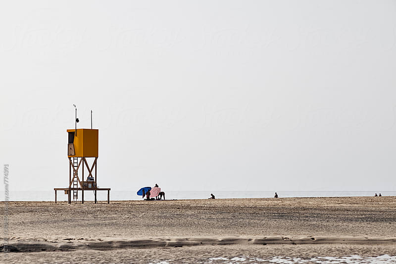 Baywatch Viewpoint at the Beach in Playa Barca by Victor Torres for Stocksy United