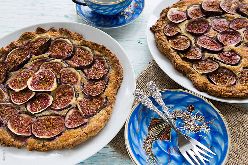 Fig frangipane galette by Aniko Lueff Takacs for Stocksy United