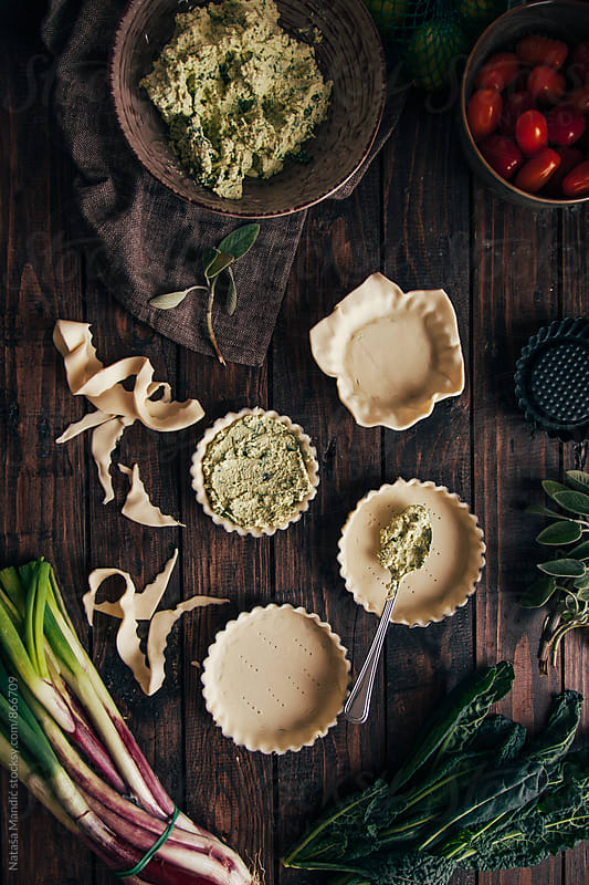 Making vegan quiche  by Nataša Mandić for Stocksy United