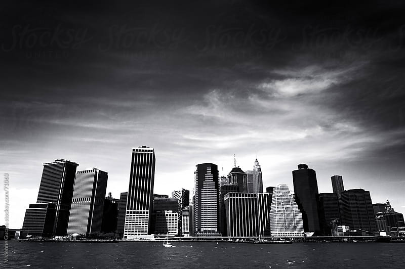 New York City - Financial District Skyline by Vivienne Gucwa for Stocksy United