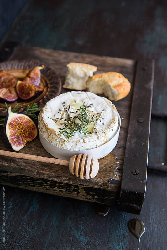 Baked Camembert with Honey Roasted Figs by Aniko Lueff Takacs for Stocksy United