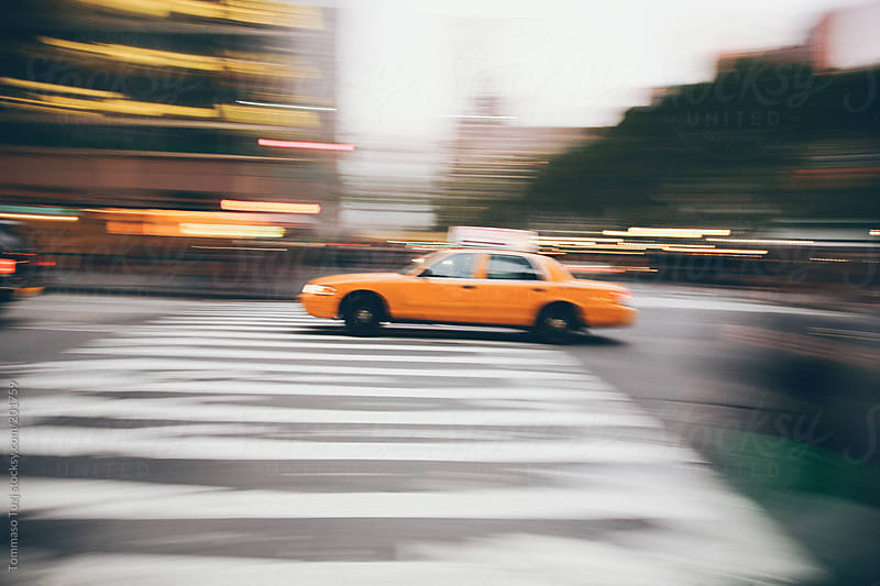 new york city cab by Tommaso Tuzj for Stocksy United