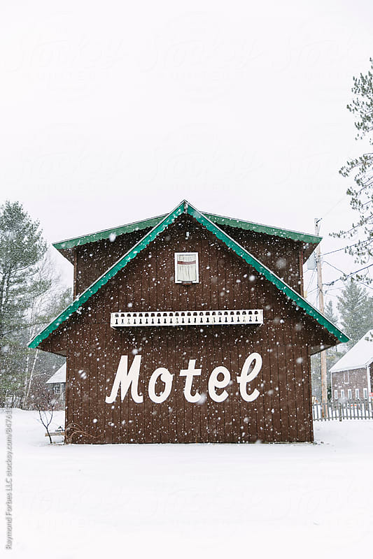 Vintage Motel in Northern New England by Raymond Forbes LLC for Stocksy United