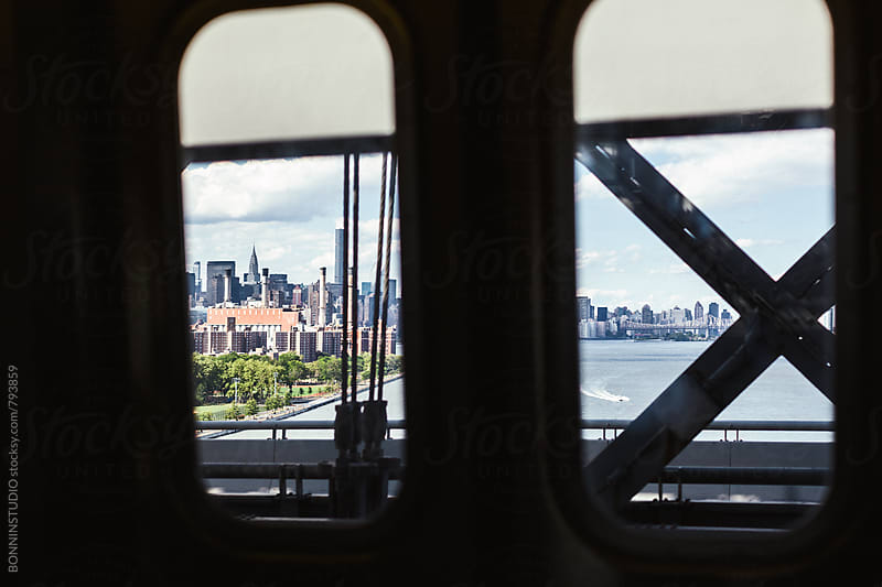 Views of New York city from subway. by BONNINSTUDIO for Stocksy United