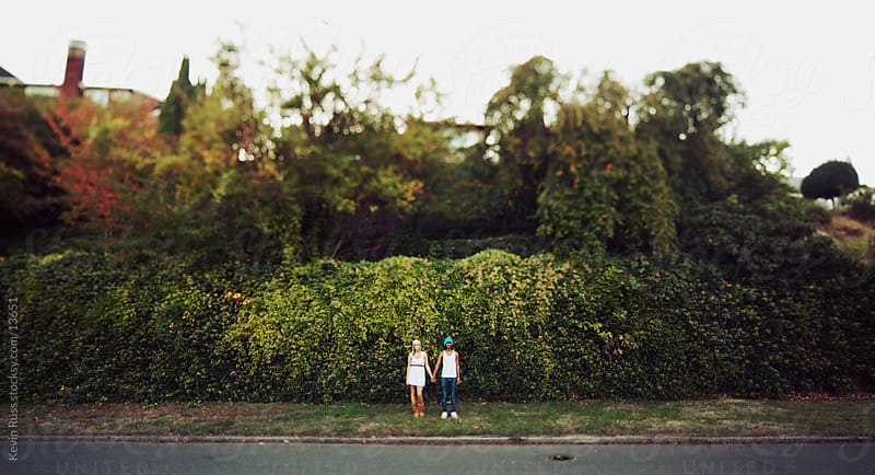 Far Away Hedge Couple by Kevin Russ for Stocksy United