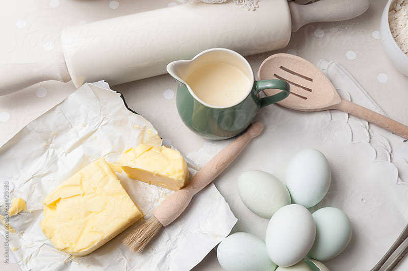 Ingredients for baking. by Rachel Dewis for Stocksy United