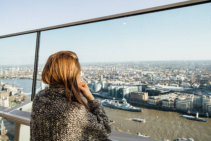London Skyline Girl by Agencia for Stocksy United