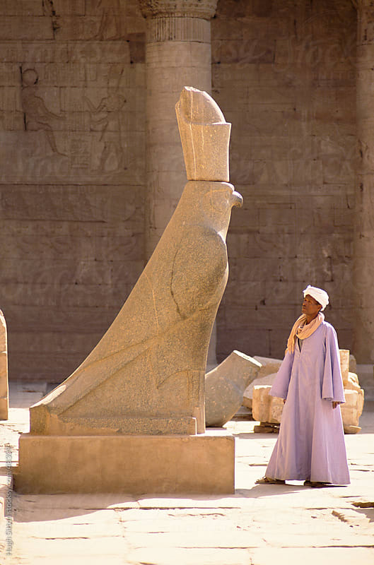 Statue of Horus. Egypt by Hugh Sitton for Stocksy United
