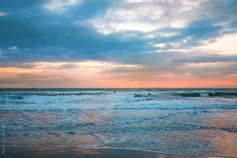 Sunset on the North Sea beach.  by Mosuno for Stocksy United