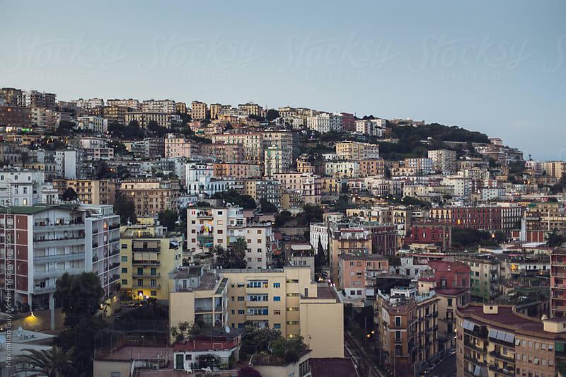 Italian city at sunset by Maximilian Guy McNair MacEwan for Stocksy United