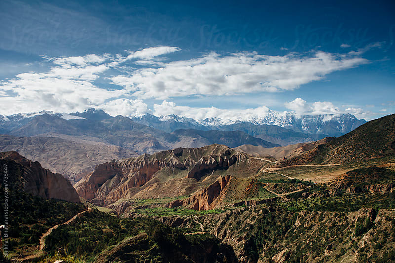 Dramatic landscape of Upper Mustang taken from Samar village. by Shikhar Bhattarai for Stocksy United