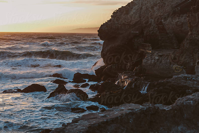 Beautiful sunset on the San Francisco sound by HOWL for Stocksy United