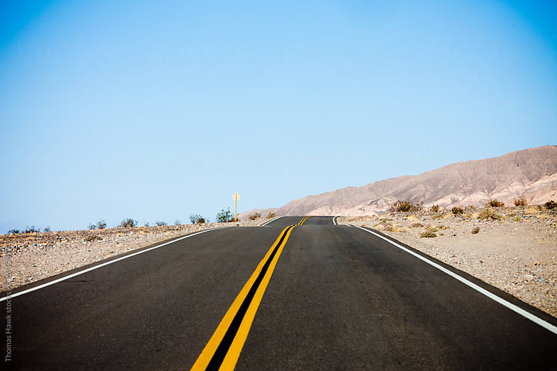 Death Valley road by Thomas Hawk for Stocksy United