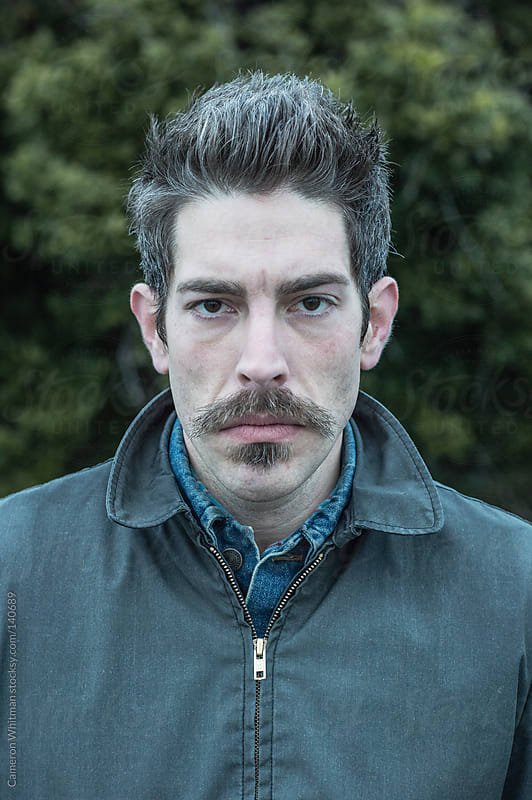 Mustache Portrait by Cameron Whitman for Stocksy United