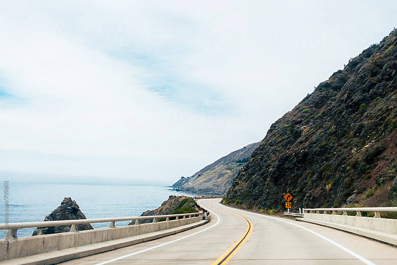 Driving in Big Sur by Kayla Snell for Stocksy United