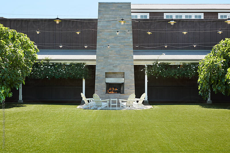 Wedding and Event space at luxury resort  by Trinette Reed for Stocksy United