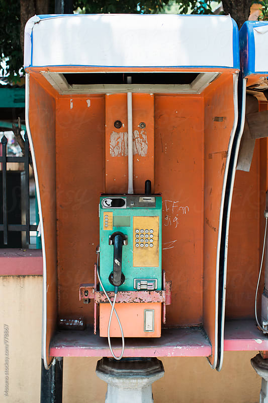 Old Payphone by Mosuno for Stocksy United