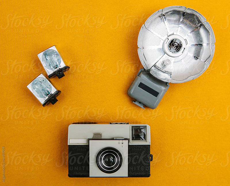 Vintage cameras and flash by kkgas for Stocksy United