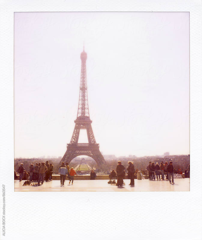 Polaroid Photograph Of The Eiffel Tower In Paris France by ALICIA BOCK for Stocksy United
