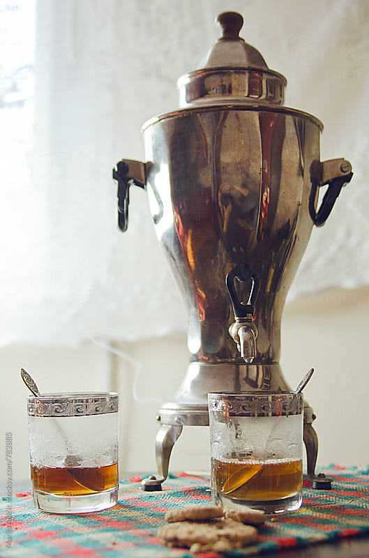 Russian samovar for making tea by Marija Anicic for Stocksy United