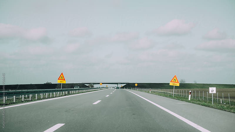 Open Highway on a Cloudy Day by Katarina Radovic for Stocksy United